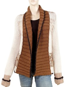 Saint Laurent Cardigan Knit Winter Wool Color-blocking Two-tone Drape Draped Sweater