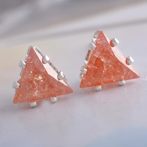 Sharp Pink Ice Gemstone Earrings Free Shipping