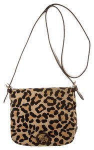 Tory Burch Handbag Pony Hair Calf Hair Handbag Animal Print Animal Messenger City Gold Logo Cross Body Bag