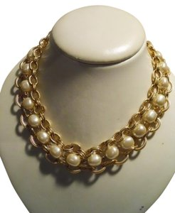 unknown Faux pearl triple chain