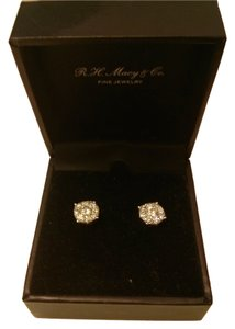 Macy's Diamond Earrings in 14k white gold