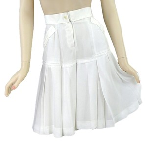 Calvin Klein Silk Pleated Skort White