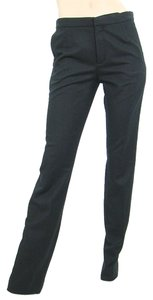 Chloe Skinny Wool Fleece Straight Pants Black