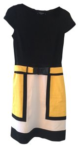 Chetta B. by Sherrie Bloom and Peter Noviello Multicolor Colorblock Short Sleeve Dress