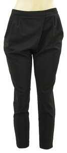 Cynthia Steffe Cropped Pleated Skinny Capri/Cropped Pants Black