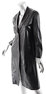 Donna Karan Lambskin Leather Trench Coat