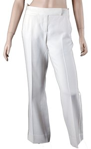 Diane von Furstenberg Tuxedo Wide Legged Pleated Wide Leg Pants White