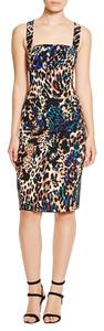Black Halo Leopard Colorful Printed Dress