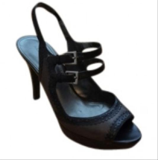 Marc Fisher black and oilve green Sandals