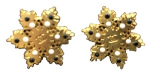 Chanel Chanel Gold filled Snowflake Stud Earrings