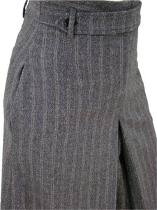 Malo Wool Pinstripe Striped Skort Grey