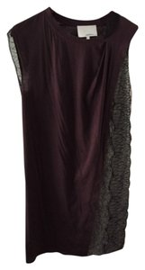 3.1 Phillip Lim short dress Brown with cream and black lace on Tradesy