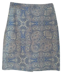 Banana Republic Paisley Skirt Blue multi