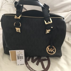 Michael Kors Satchel in Black with Gold hardware