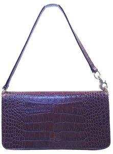Kate Spade Crocodile Embossed Leather Baguette