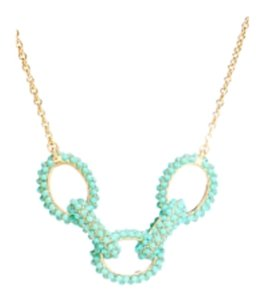 Coach Coach Necklace - Teal and gold color
