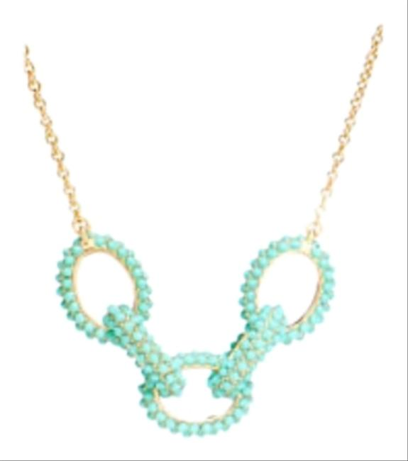 Coach Gold and Teal Color Necklace Coach Gold and Teal Color Necklace Image 1