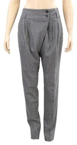 Michael Kors Pleated Drape Draped Skinny Pants Grey