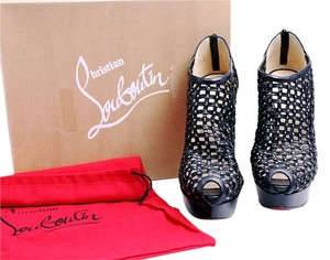 Christian Louboutin Red Soles Kasha Black Boots