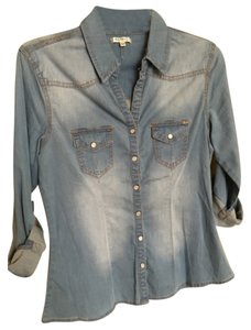 Buffalo David Bitton Top Denim blue