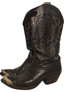 Nocona Vintage Cowboy Western Steel Toe Leather Black Boots