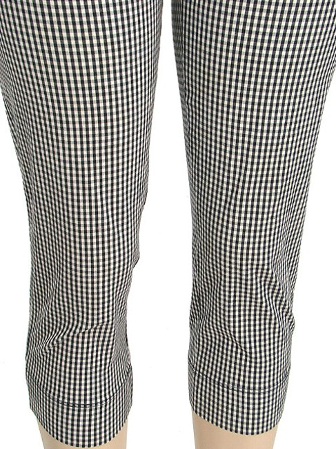 Moschino Houndstooth Checkered Capri/Cropped Pants Black, White, Gray Image 1