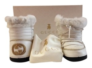 Gucci White/Gold Boots