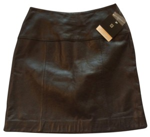 Valerie Stevens Nwt Lambskin Leather Skirt Black