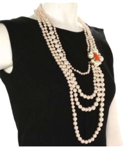 Chanel NEW WITH TAGS!!! Chanel Multi Strand Pearl Necklace Long Pearls