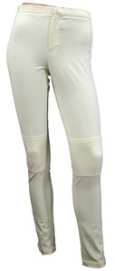 Ralph Lauren Nylon Cotton Skinny Skinny Pants Ivory, White