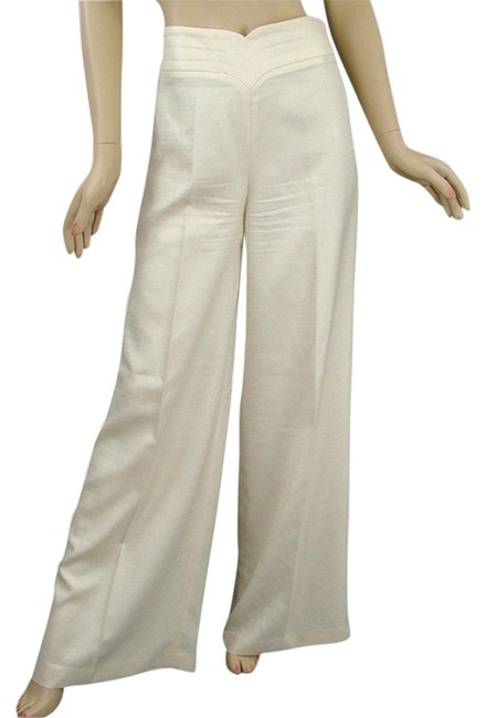 Preload https://item2.tradesy.com/images/searle-stone-ivory-polyester-wide-leg-pants-size-6-s-28-1087246-0-0.jpg?width=400&height=650