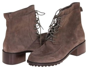 Elizabeth and James Ankle Suede Winter Brown Boots