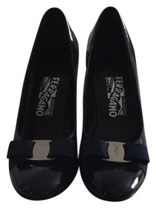Salvatore Ferragamo Blue Pumps