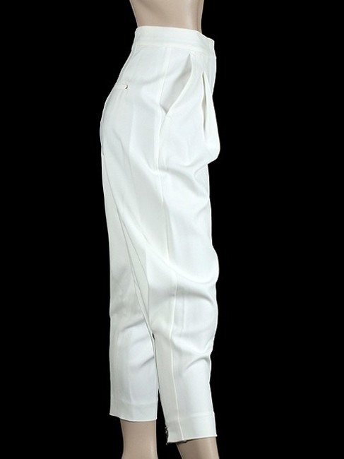 Sportmax Crepe Crepe Pleated Tapered Skinny Pants White