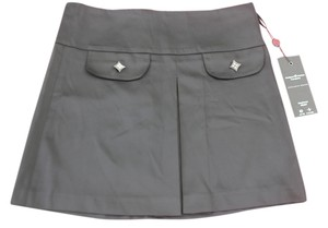 Anna Guspini Mini Skirt Black with Silver Hardware