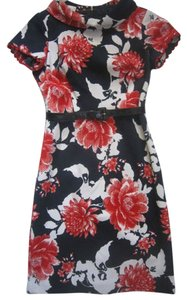 Multi Color Maxi Dress by Rickie Freeman Wiggle Floral Church Pencil Womens