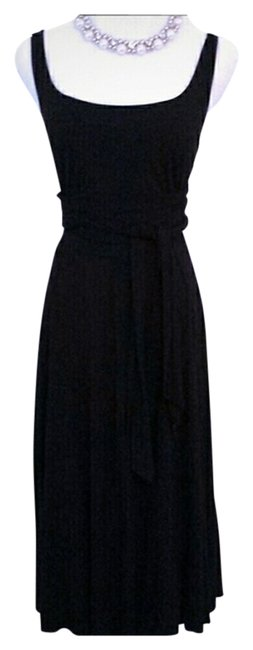 Preload https://item1.tradesy.com/images/three-dots-black-mid-length-night-out-dress-size-4-s-1087450-0-0.jpg?width=400&height=650