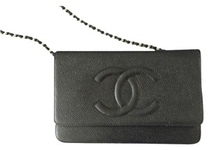 Chanel Woc Cc Silver Hardware Cross Body Bag