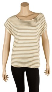 Joie Soft Striped T Shirt Cream & Green