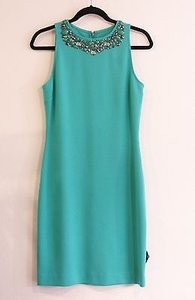 St. John John Black Label Sea Rhinestone Collar Sp Grp 0 Dress