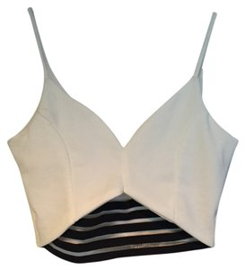 A3 Crop Top white/black