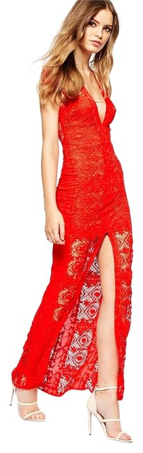 Item - Red Mariposa Maxi Long Night Out Dress Size 12 (L)