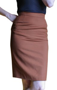 Escada Vintage Pencil Skirt Chocolate Brown