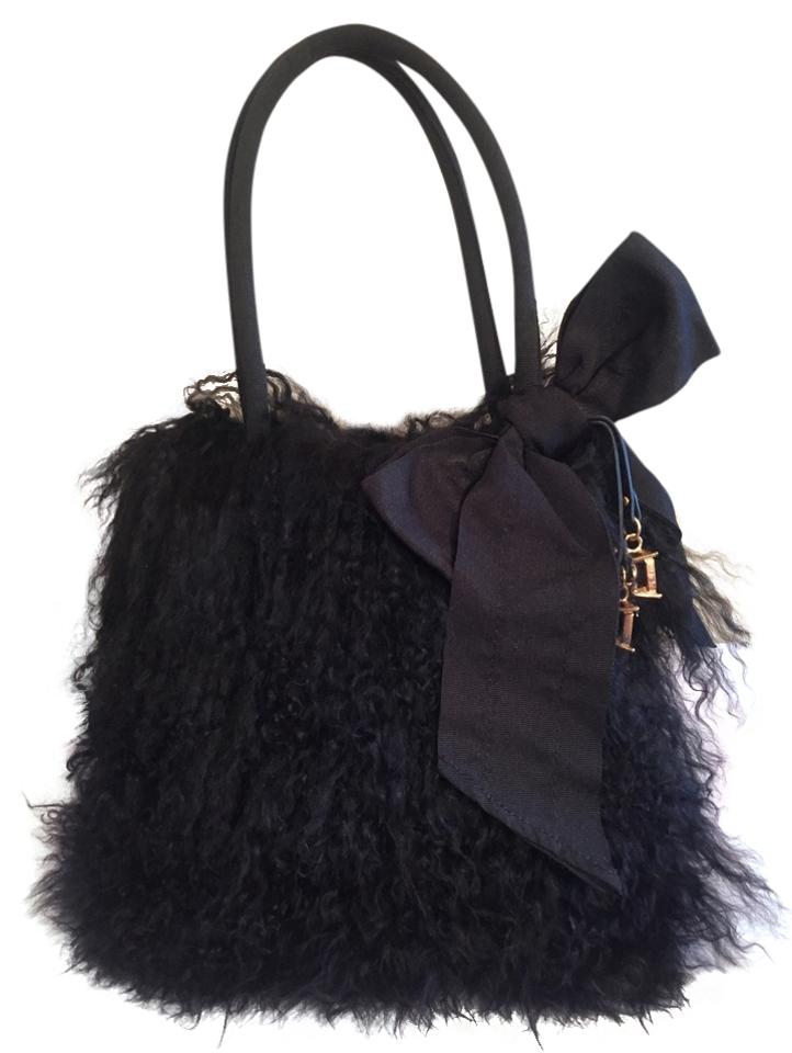 Juicy Couture Mongolian Lamb Fur Handbag Black Shoulder Bag - Tradesy f2899df004992