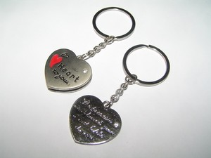 2pc Lovers Key Chain Key Rings Free Shipping