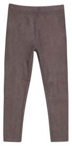 Vince Suede Faux Leather Kids Gray Leggings