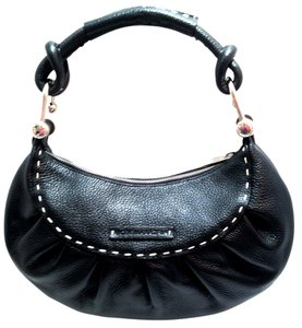 BCBGMAXAZRIA Bcbg Pebbled Stitched Leather Hobo Bag