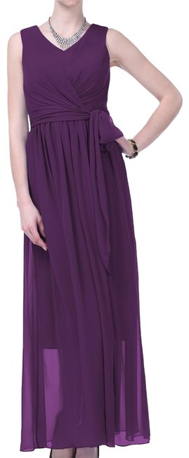 Preload https://item3.tradesy.com/images/purple-graceful-sleeveless-waist-tie-long-formal-dress-size-6-s-108762-0-2.jpg?width=400&height=650