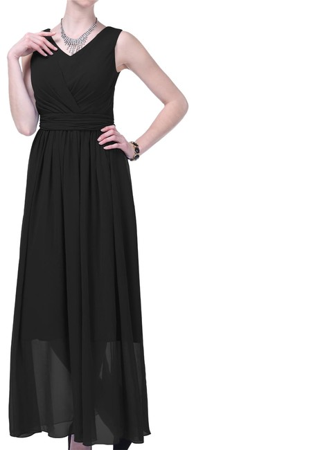 Preload https://item4.tradesy.com/images/black-graceful-sleeveless-waist-tie-long-formal-dress-size-8-m-108763-0-2.jpg?width=400&height=650