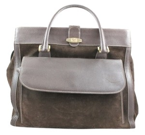 Gucci Weekend Briefcase Brown Travel Bag